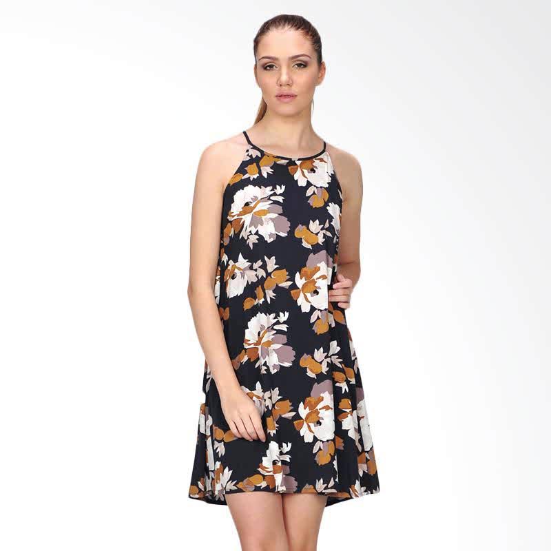 Ramidar Flower Womens Dress - Black