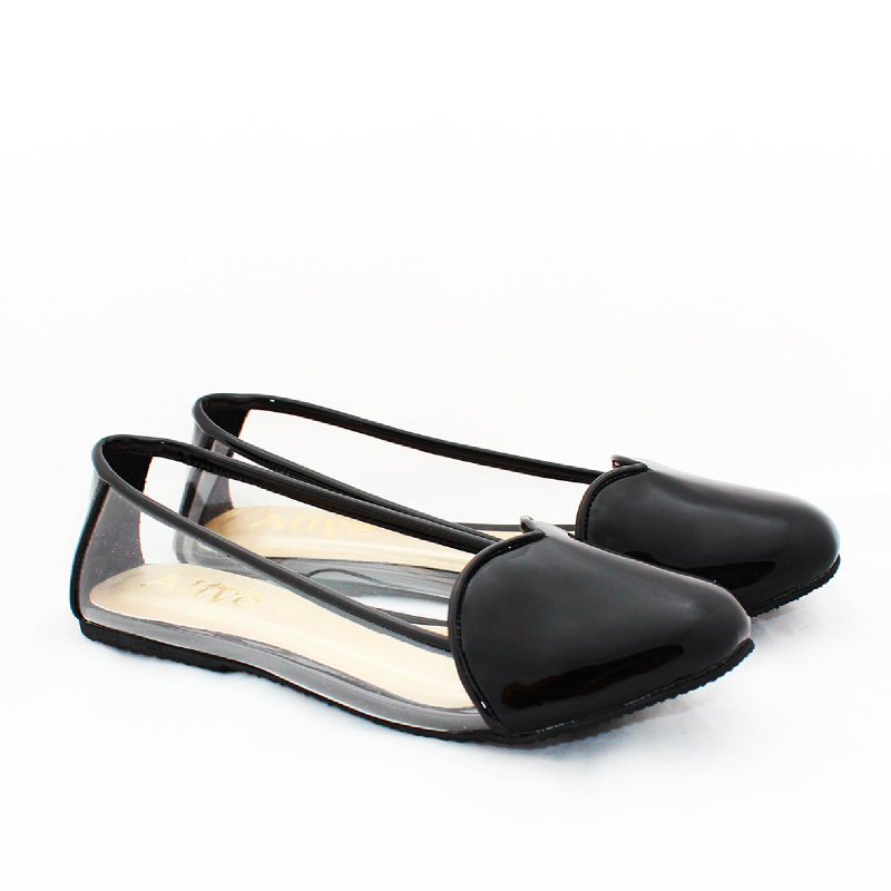 Alivelovearts Flat Shoes Amore Black