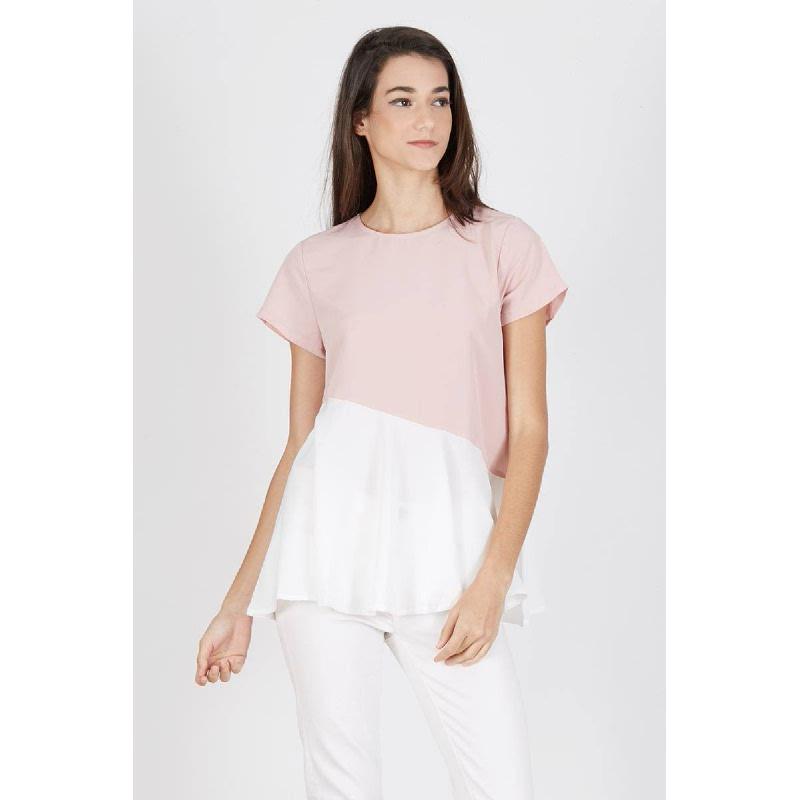 Panela Assymetrical Cut Top Pink