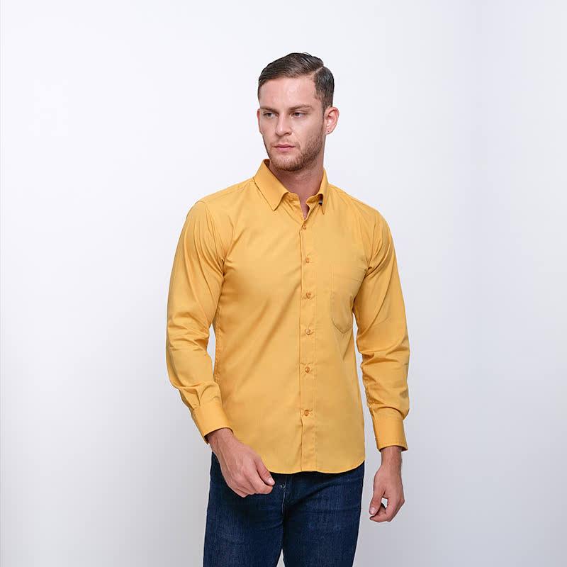 Gianni Visentin Slim Shirt Kuning Tua