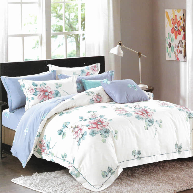 Sleep Buddy Set Sprei Flowery Cotton Sateen 180x200x30