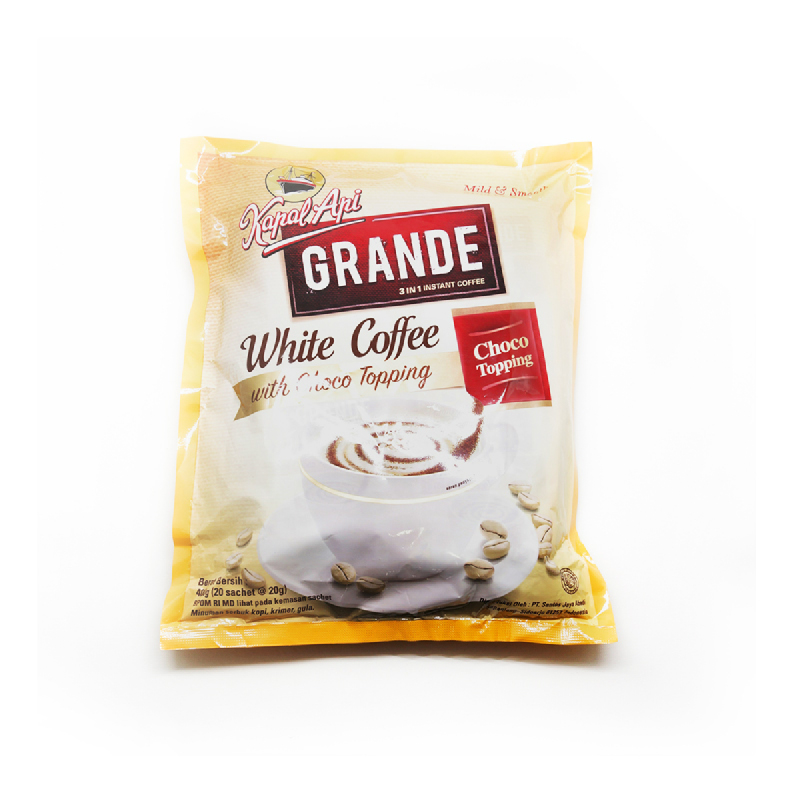 Kapal Api Grande White Coffe 3In1 Bag 30