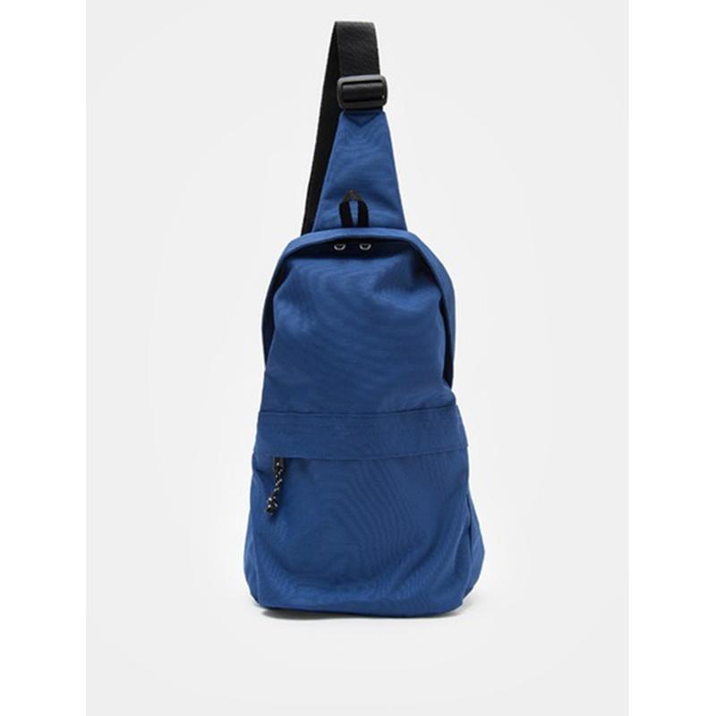 8 seconds Men Navy Basic Casual Sling Bag