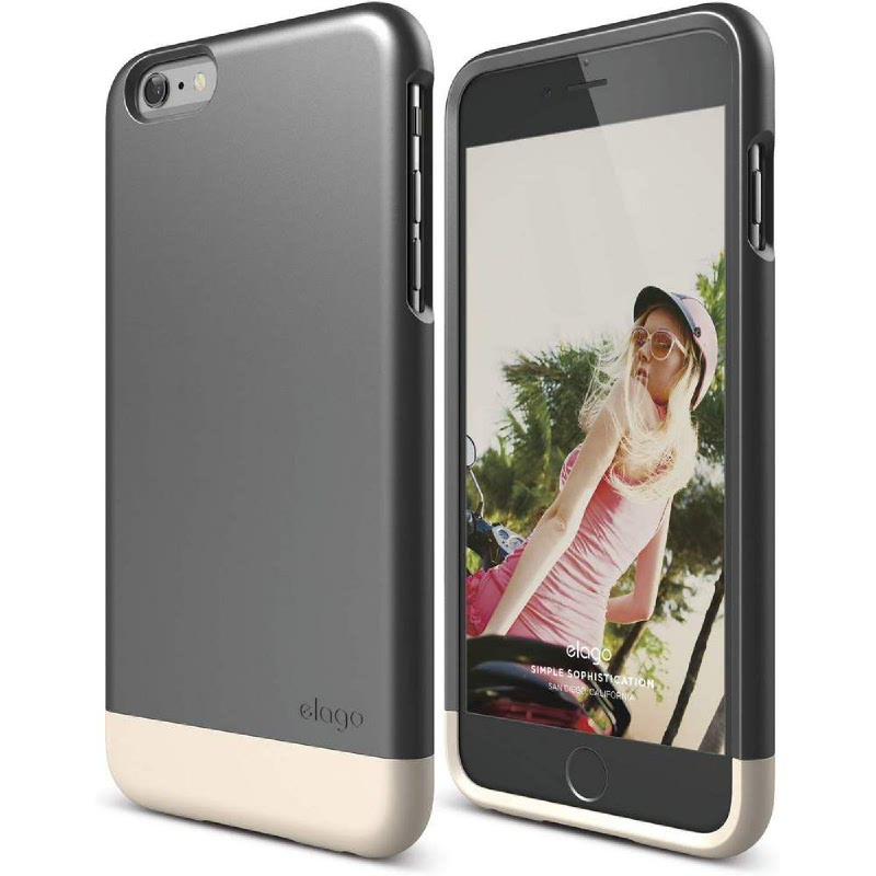 Elago Glide Case for iPhone 6 Plus - SF Champagne Gold + Metallic Dark Gray