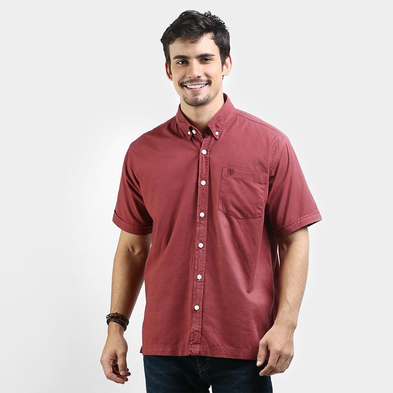 Rust Red Shirt Garment Dyed ESGD010R1