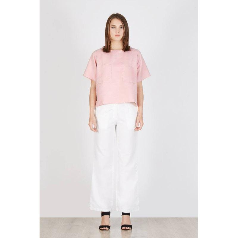 Popita Pocket Blouse Pink