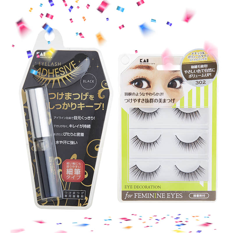 KAI  HC-1259 Eyelash Glue 5ml (Black) + Kai HC-1562