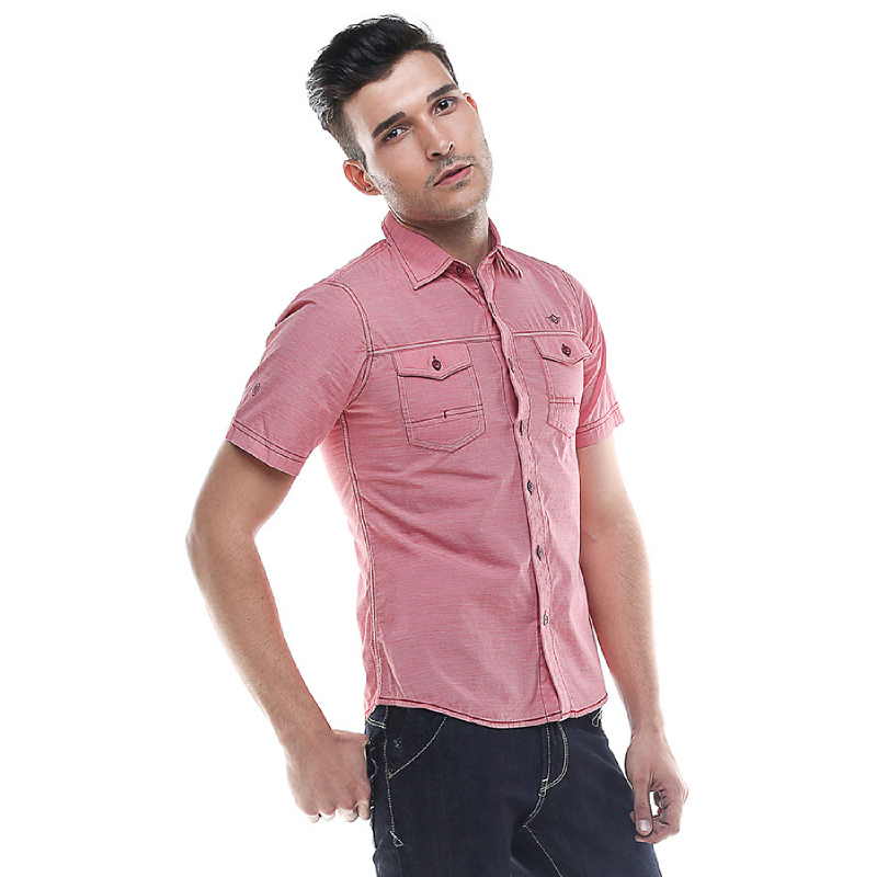 Slim Fit - Kemeja Fashion  - Model Casual - Merah