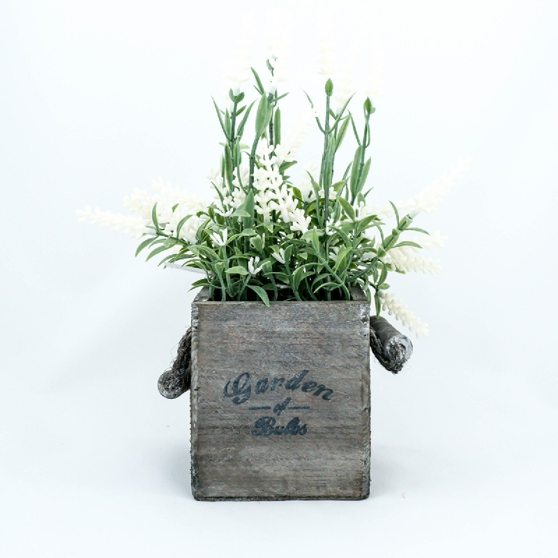 Asna Decorative Artificial Plants in Wooden Pot