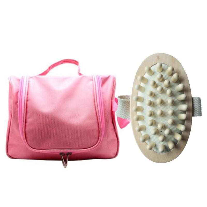 Copia Accessories Bag Pink + Copia Massager Brush With Strap