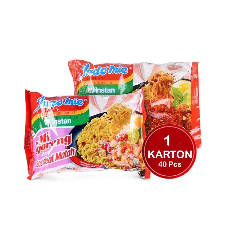 Indomie Mie Instant Goreng Sambal Matah 85 Gr (1 Karton)
