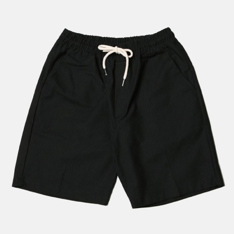 [BL2051]High Quality Banding Pants - Black