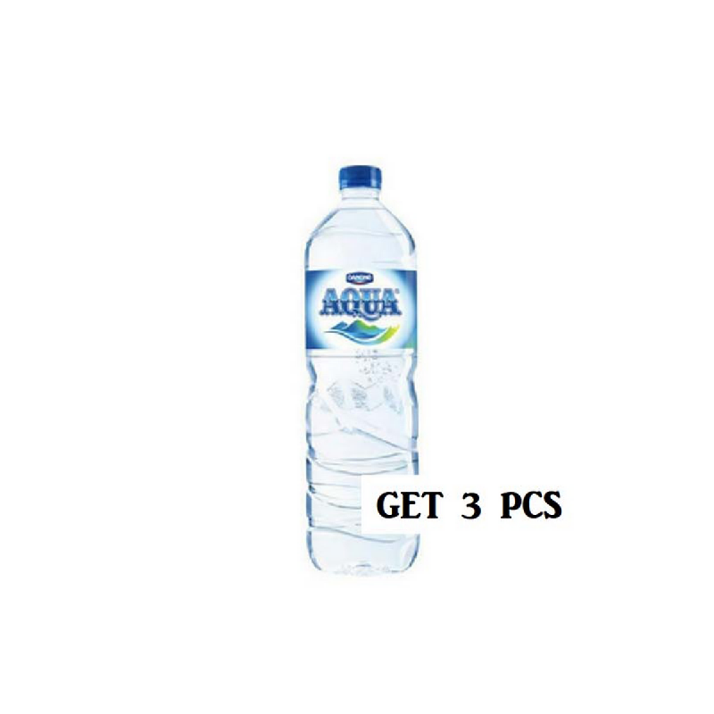 Aqua Mineral Water 1500 Ml (Get 3)