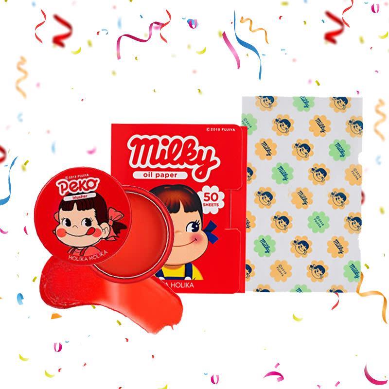 Holika Holika Peko Melty Jelly Blusher 01 Melting Cherry + Peko Oil Paper