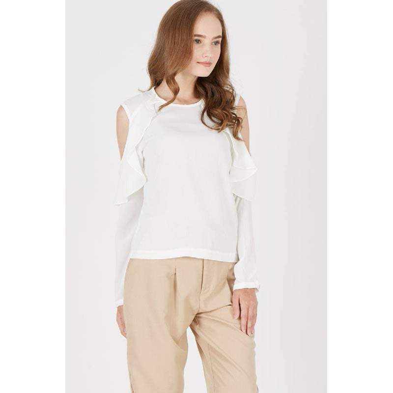 Janet Off White Top