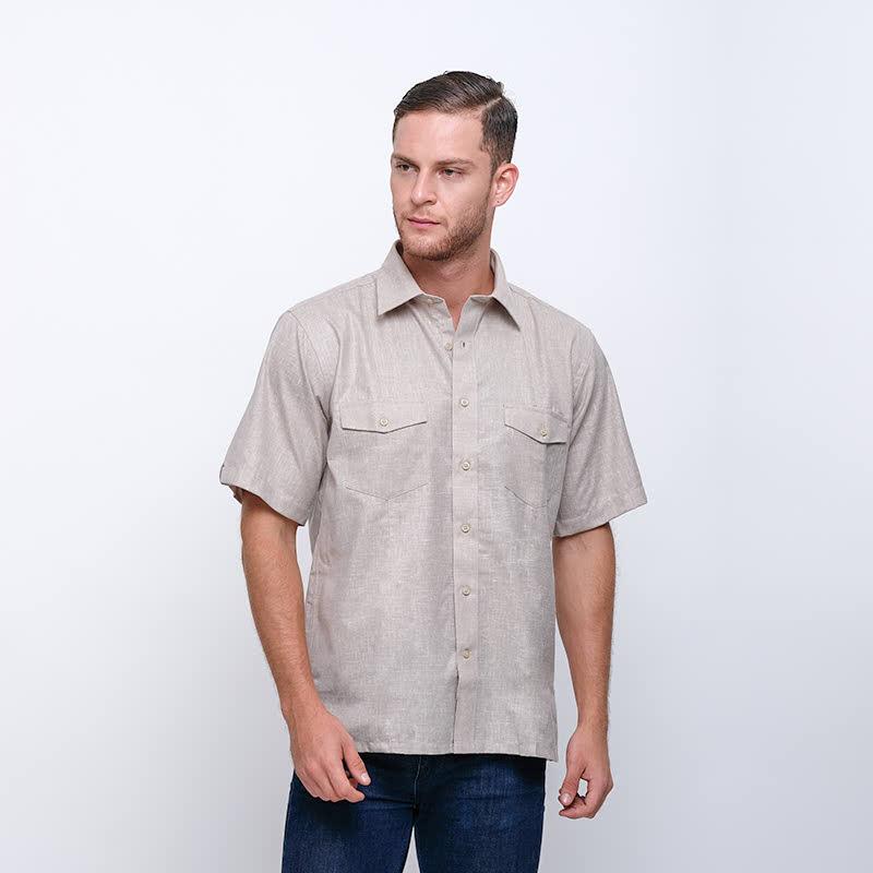 Gianni Visentin Regular Shirt Coklat