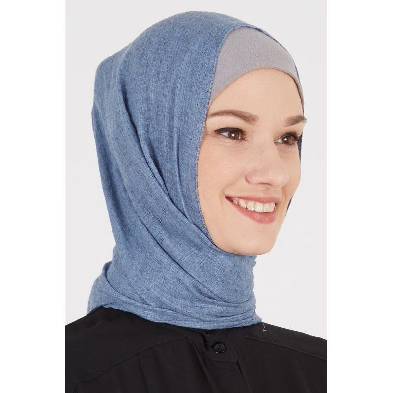 Daruna Pashmina Plain Blue
