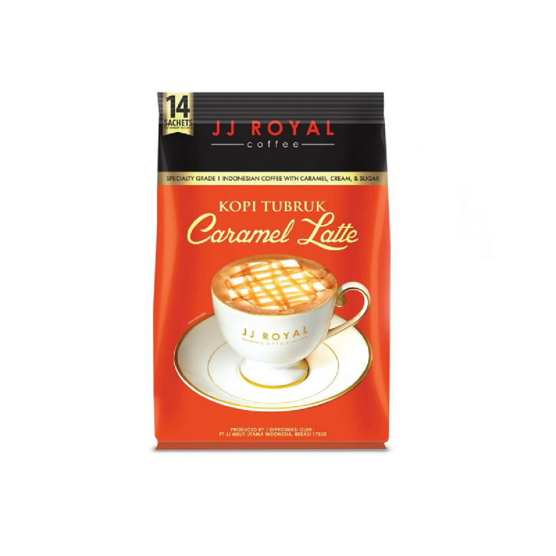 Jj Royal Kopi Tubruk Caramel Latte 14 Sachet