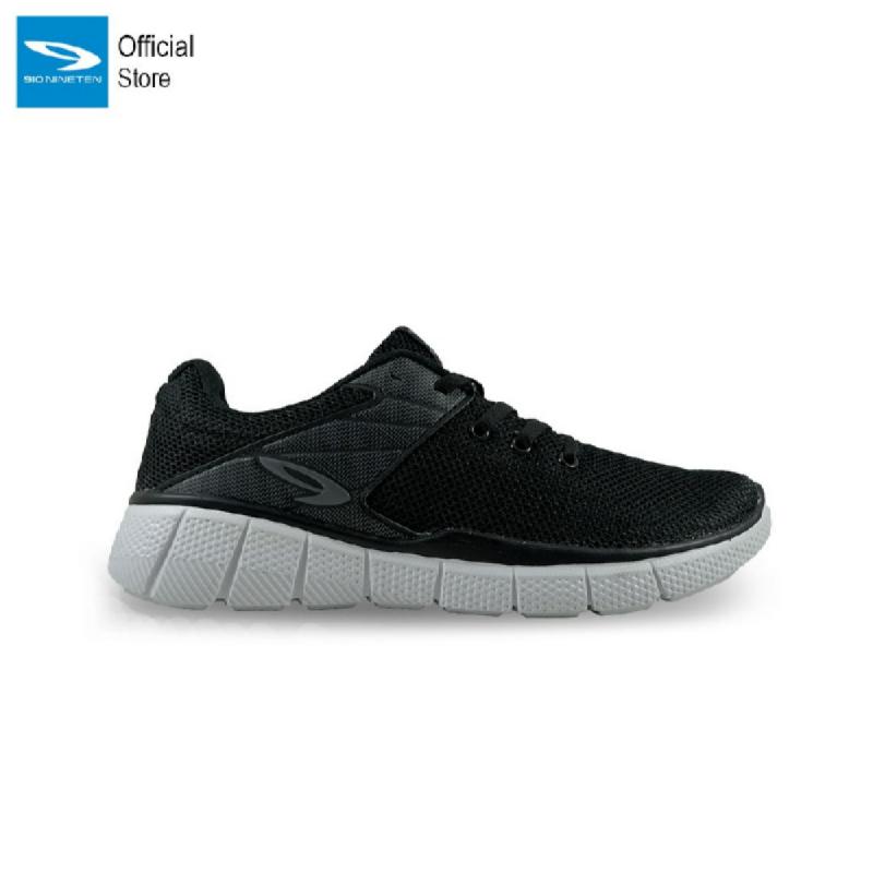 910 Nineten Kekkai 1.5 Sepatu Lari - Hitam Abu Tua Putih