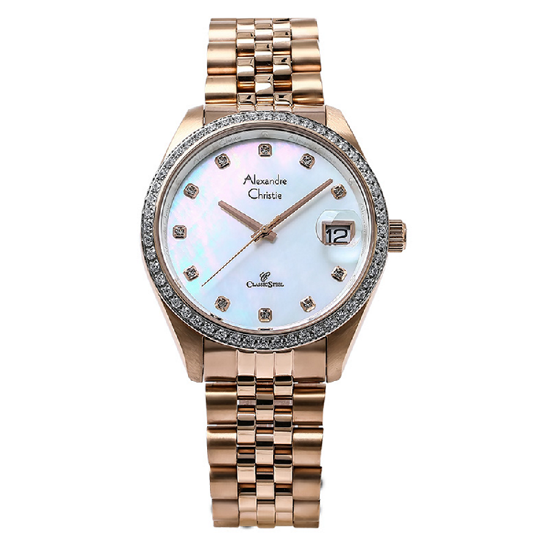 Alexandre Christie AC 5008 MD BRGMS Man Mother of Pearl Dial Stainless Steel