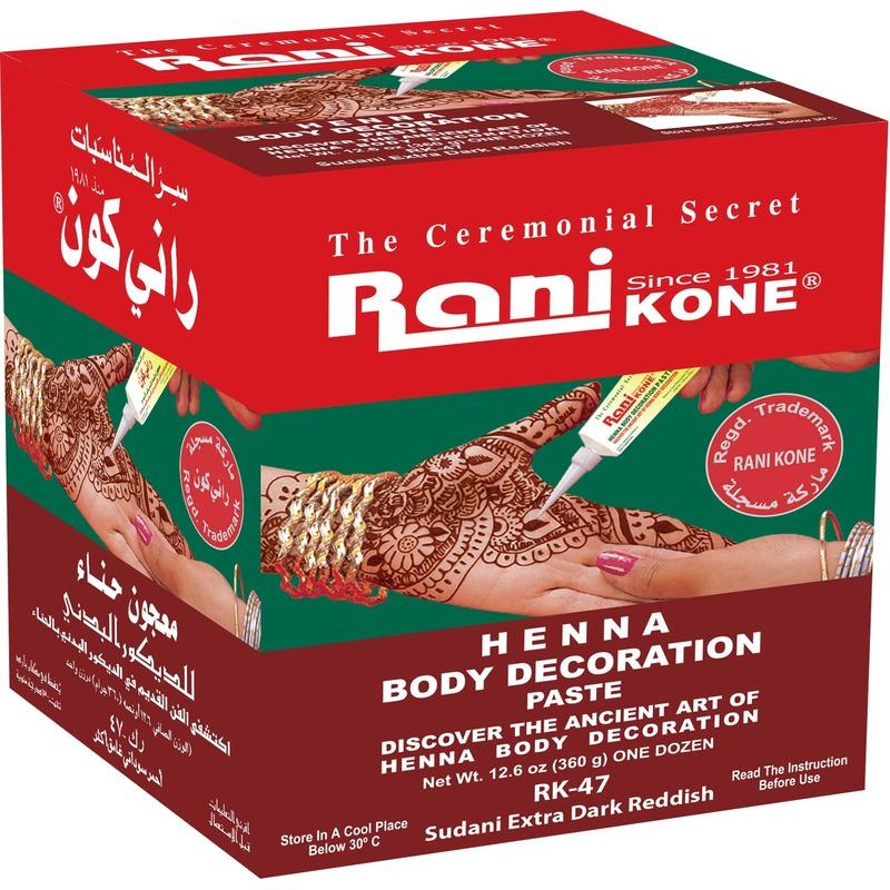 Rani Kone 47 Body Decoration Paste Sudani Extra Dark Reddish 360g