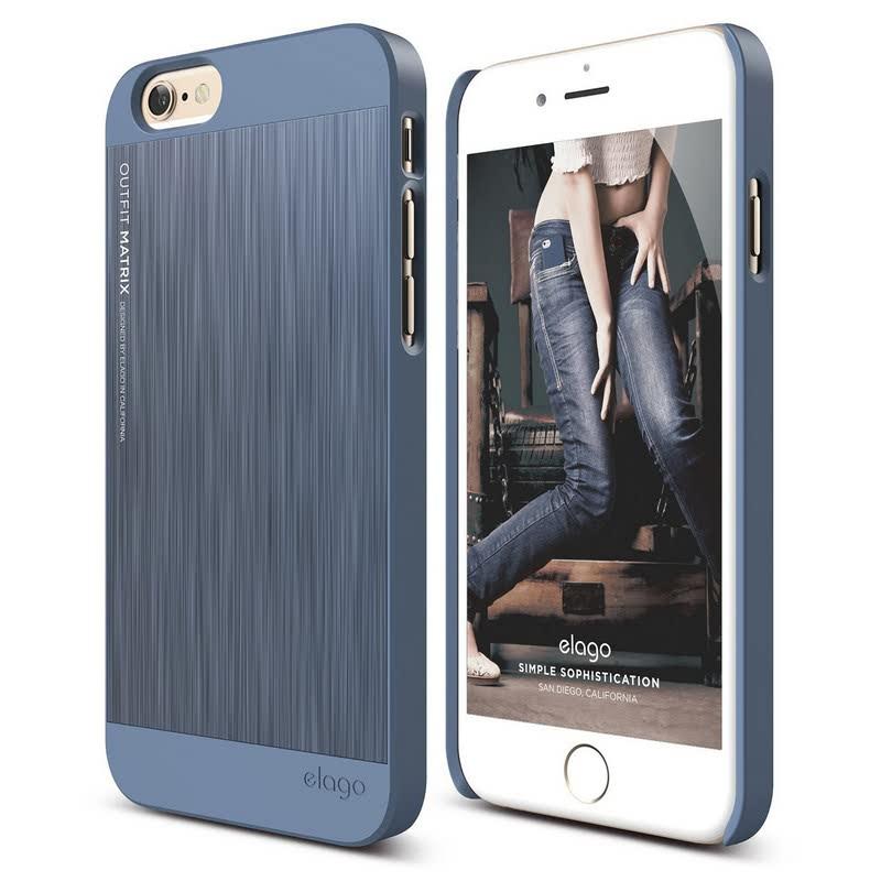 Elago Outfit Matrix Case for iPhone 6 Plus - Royal Blue + Royal Blue