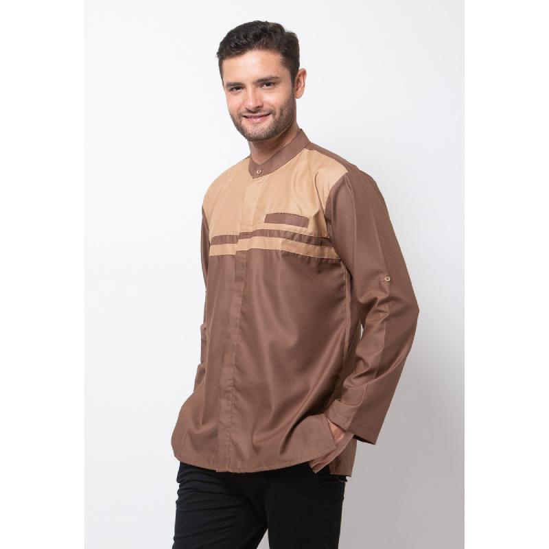 ALLEV Mahdi Long Shirt Cokelat Tua