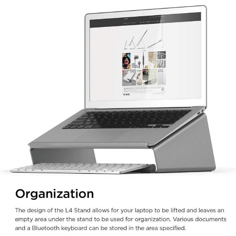 Elago L4 Notebook Stand - Dark Gray