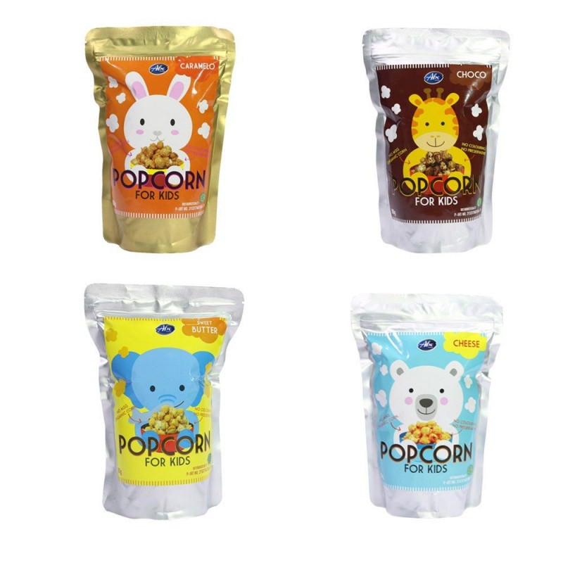 Abefood Pop Corn For Kids All Variant (Caramelo, Cheese, Chocolate, Sweet Butter)