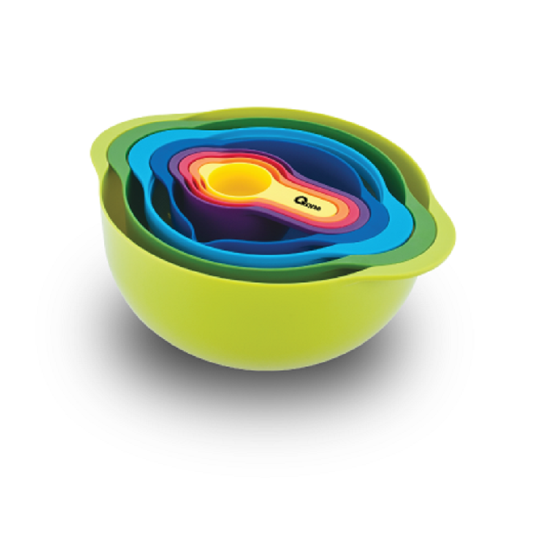 Oxone Rainbow 8 pcs Mixing Bowl Set