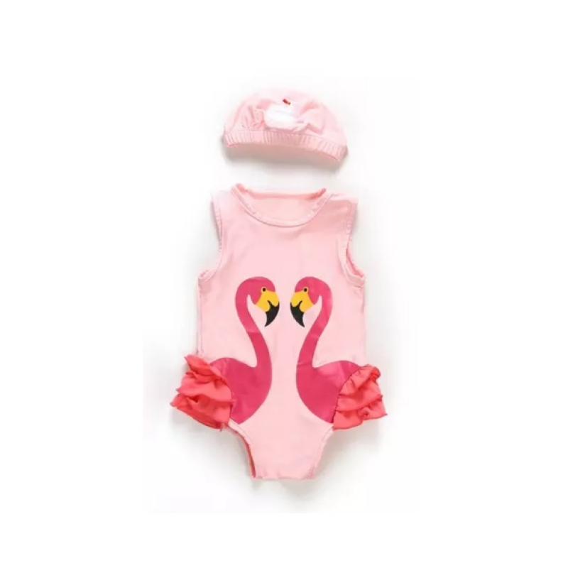BabyLand Pinky Flamingo Swimsuit PFS001