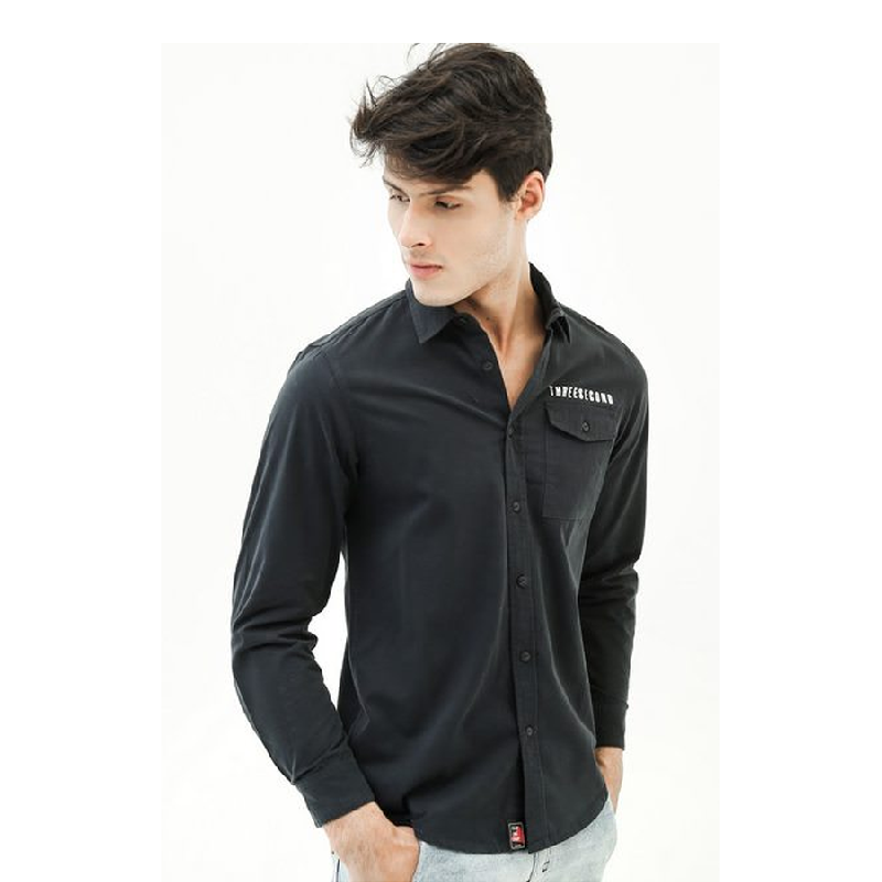 3second Men Shirt 1705 Black