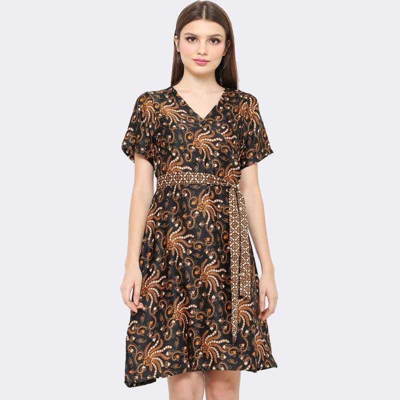 Anakara Kimo Dress Octopus Black