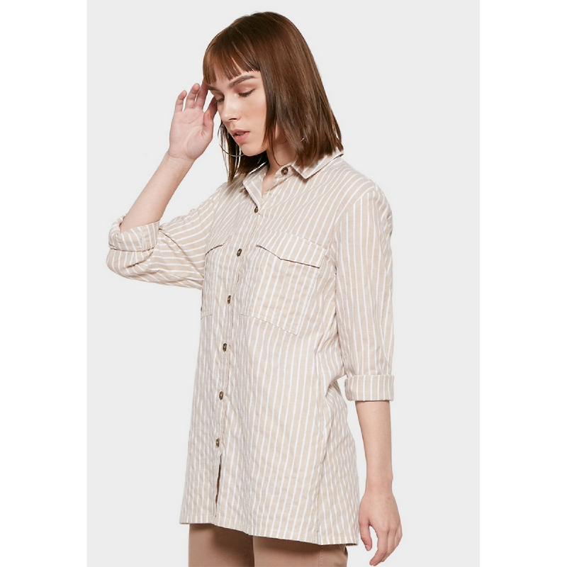 Graphis Shirt Stripe Khaki