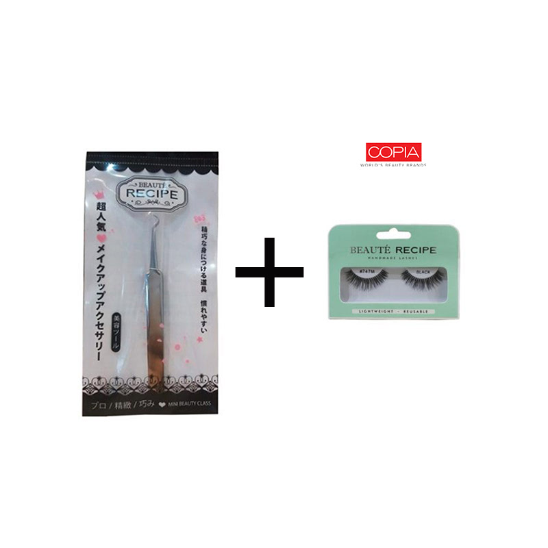 Beaute Recipe Acne Clip 1663-1 + Beauty Tools Eyelash 747M Black