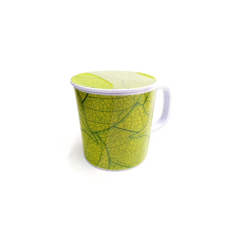 Vanda Mug Hijau Dengan Tutup 3.5 Inchi