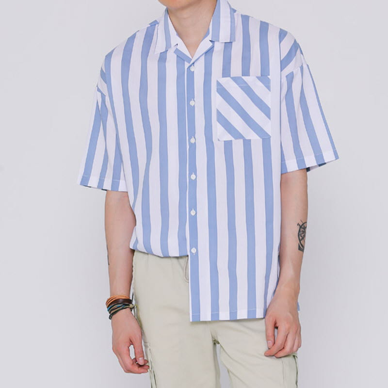 For One Open Collar Shirt BLUSKY