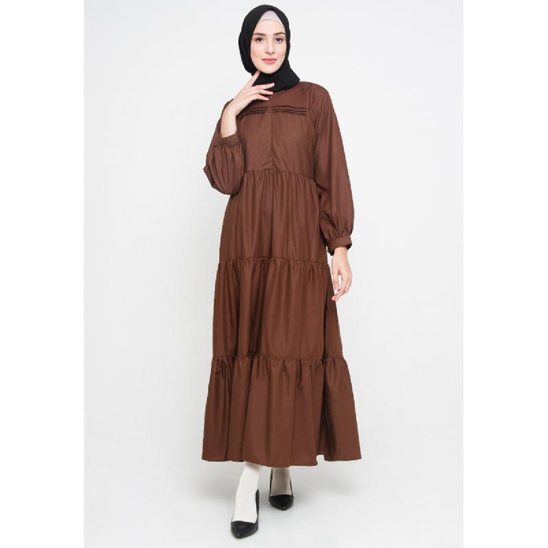 ALLEV Kainah Dress Cokelat