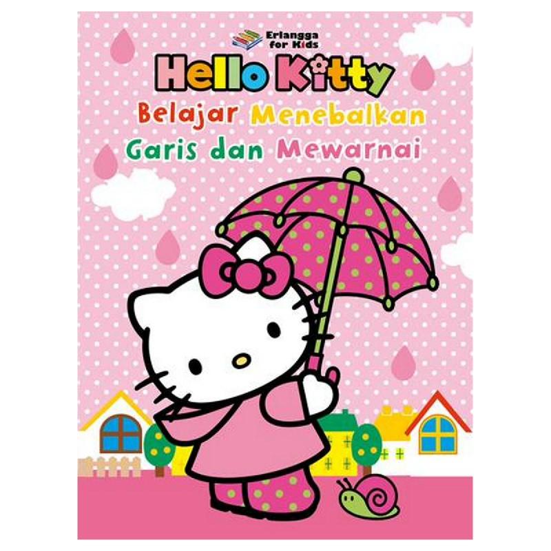 Hello Kitty Belajar Menebalkan Garis Mewarnai Ilotte