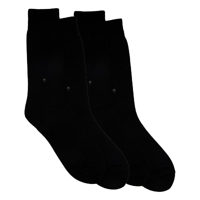 Gunze Men Casual Socks 1Box isi 2 Pasang 0ST10 Black