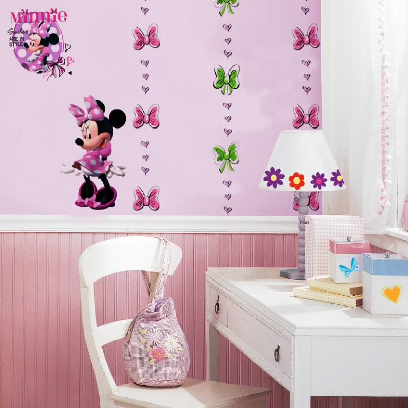 Minnie Mouse Bow Stripe White Pink Black