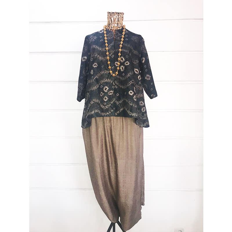 Batik Chic Celana Popok Abu Kecoklatn
