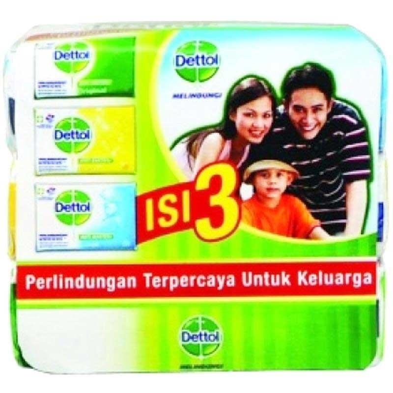 Dettol Barsoap Family Pack 3X70 Gr