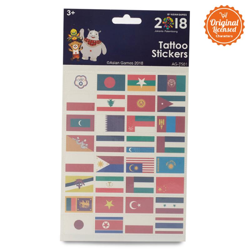 Asian Games Tattoo Sticker AG-TS001
