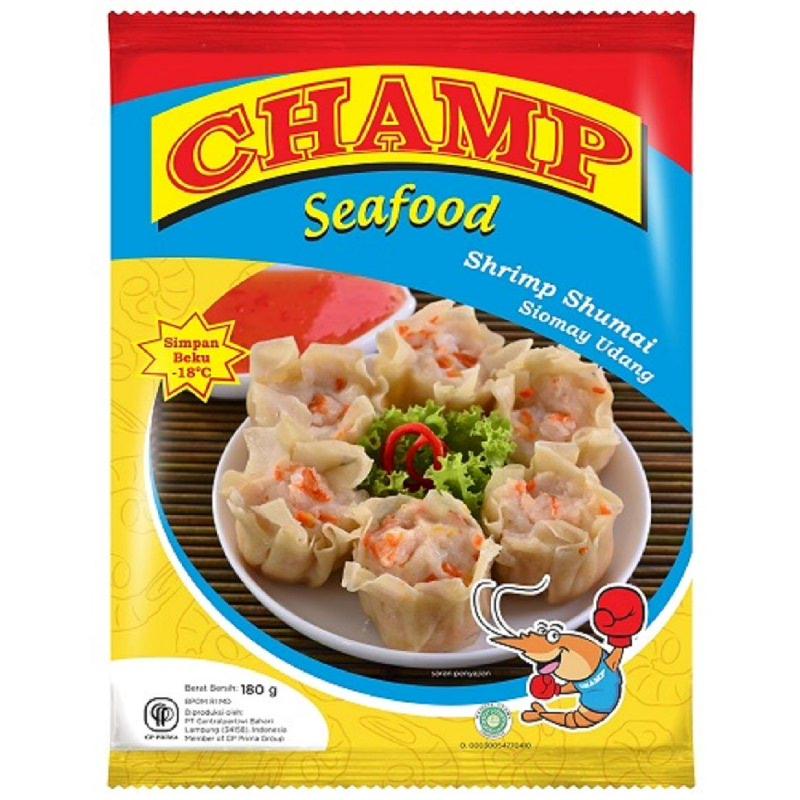 Champ Seafood Siomay Udang 180 Gr