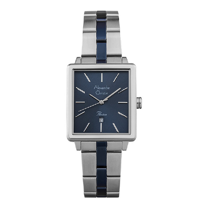 Alexandre Christie Passion AC 2894 LD BTUBU Ladies Blue Dial Dual Tone Stainless Steel Strap