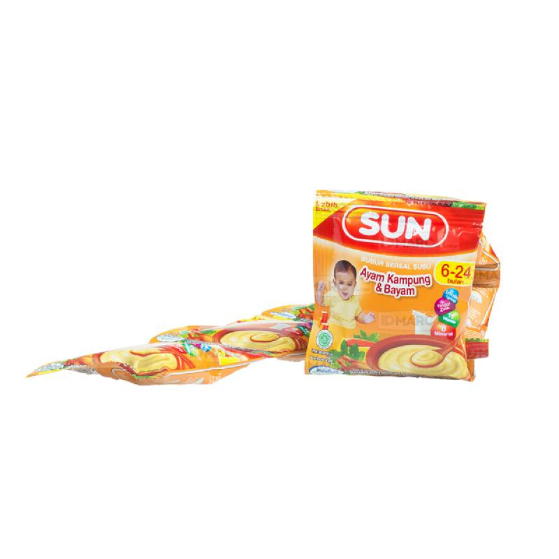 SUN Bubur Sereal Susu Ayam Kampung Bayam Sachet