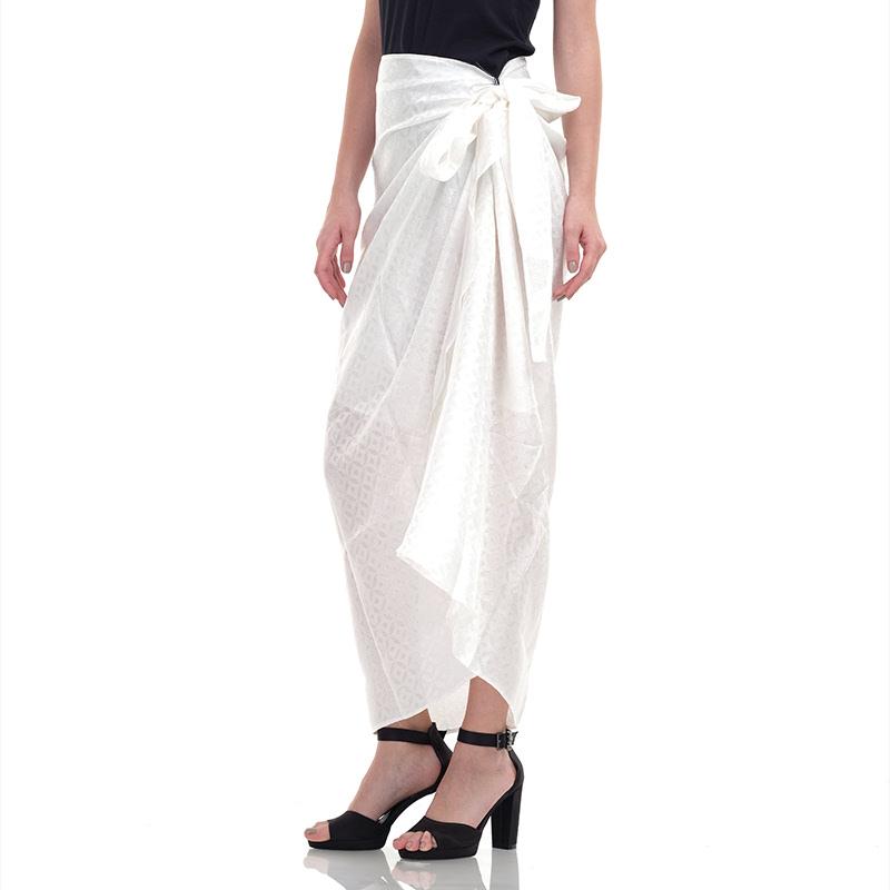 Batik Chic Rok Kain Polos White