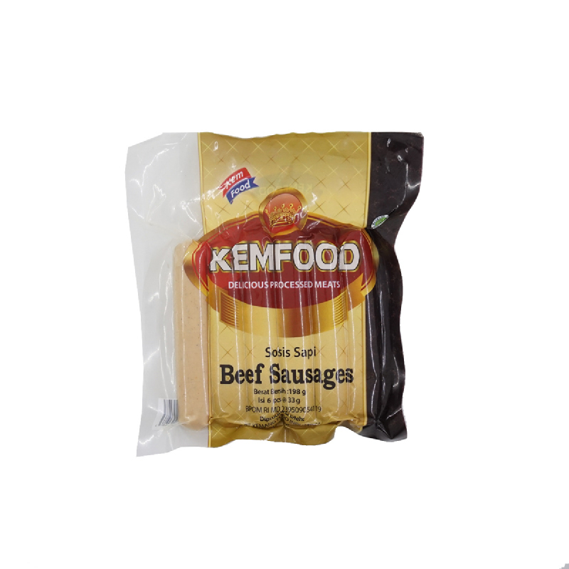 Kemfood Kemchicks Sosis Sapi 225 Gr isi 6 Pcs