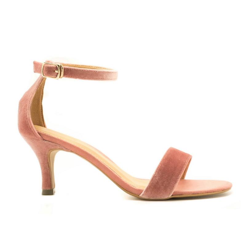 Apple Green Henrietta Strap Heels Pink